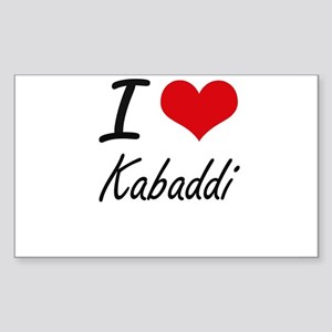I Love Kabaddi artistic Design Sticker