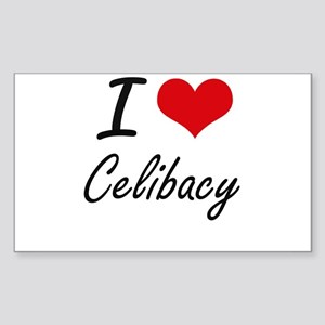 I love Celibacy Artistic Design Sticker