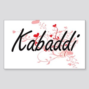 Kabaddi Artistic Design with Hearts Sticker