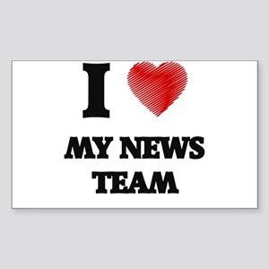 I Love My News Team Sticker