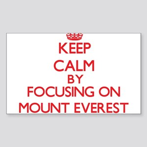 Keep Calm by focusing on Mount Everest Sticker