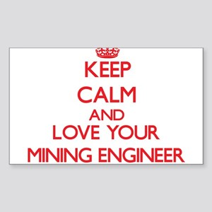Keep Calm and love your Mining Engineer Sticker