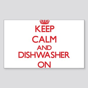 Keep Calm and Dishwasher ON Sticker