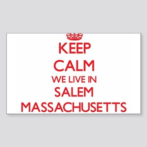 Keep calm we live in Salem Massachusetts Sticker