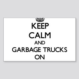 Keep Calm and Garbage Trucks ON Sticker