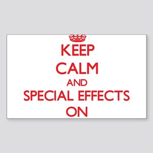 Keep Calm and SPECIAL EFFECTS ON Sticker