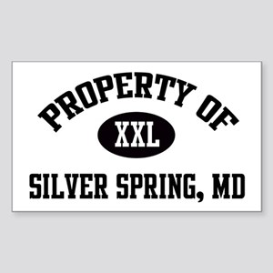 Property of Silver Spring Rectangle Sticker