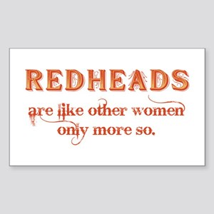 Redheads Sticker (Rectangle)