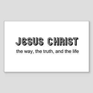 Jesus is the Way Rectangle Sticker