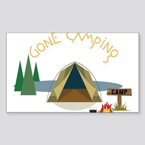 Gone Camping Sticker (Rectangle)