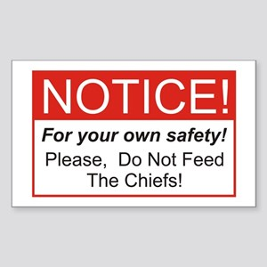 Notice / Chiefs Rectangle Sticker