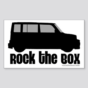 Rock the Box Rectangle Sticker
