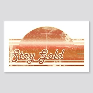 Vintage Distressed Stay Gold Rectangle Sticker