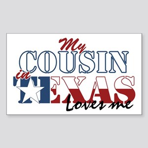My Cousin in TX Sticker (Rectangle)