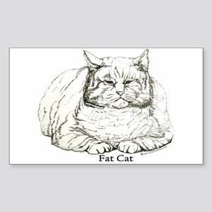 Fat Cat Rectangle Sticker