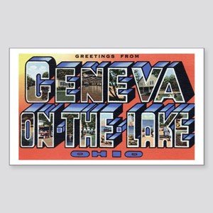 Geneva on the Lake Sticker (Rectangle)