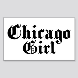 Chicago Girl Rectangle Sticker