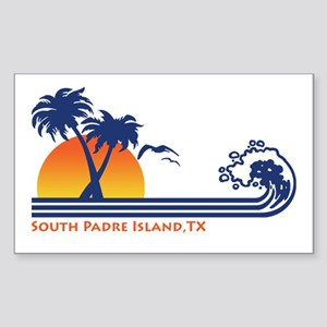 South Padre Island Texas Sticker (Rectangle)