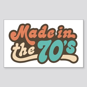 Made in the 70's Rectangle Sticker