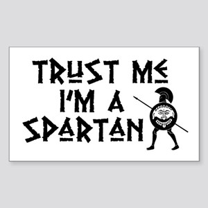 Trust Me I'm a Spartan Rectangle Sticker