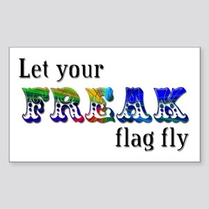 Freak Flag Rectangle Sticker