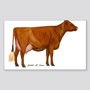 Shorthorn Trans Sticker (Rectangle)