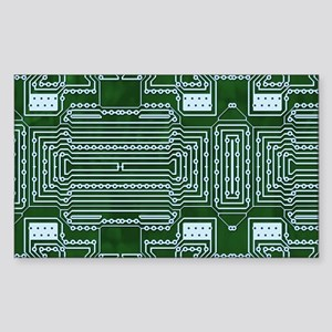 Circuit Board Sticker (Rectangle)