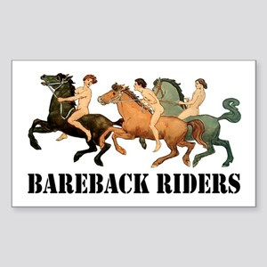 BAREBACK RIDERS Rectangle Sticker