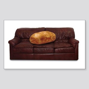 Couch Potato Rectangle Sticker