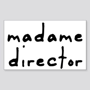 Madame Director Rectangle Sticker