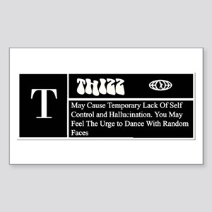 DEFINITION OF THIZZ -- TEES Rectangle Sticker