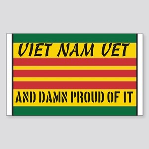 Proud to be Viet Nam Vet Sticker (Rectangle)