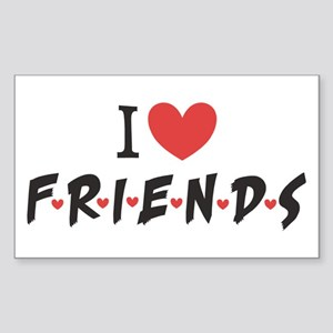 I heart Friends TV Show Sticker (Rectangle)