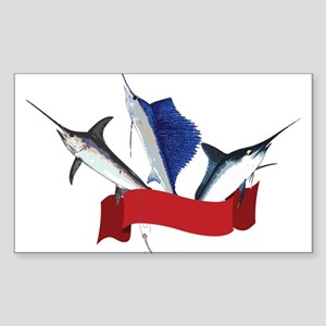 Marlin Fish Sticker (Rectangle)