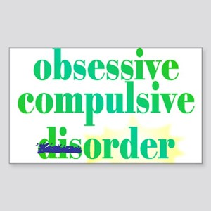 Obsessive Compulsive (Dis)Order - Sticker (Rectang