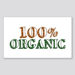 100% Organic Rectangle Sticker
