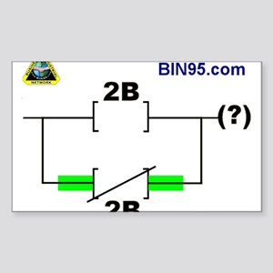 2Bnot2B Ladder Logic Sticker (Rectangle)