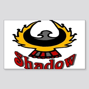 Eagle Shadow Sticker (Rectangle)