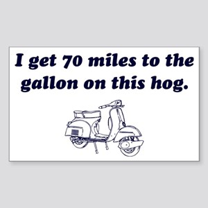 2-70-miles-to-the-gallon Sticker (Rectangle)