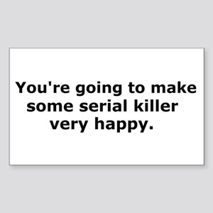 Serial Killer Rectangle Sticker