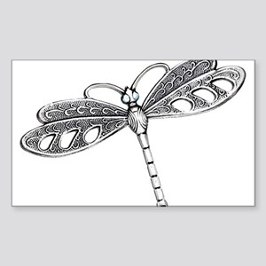 Metallic Silver Dragonfly Sticker