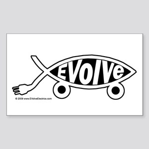 EVolve Fish Sticker
