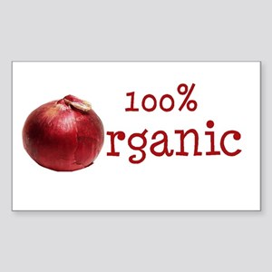 Organic Onions Rectangle Sticker