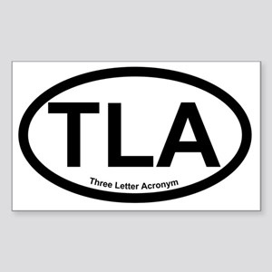 ThreeLetterAcronym Sticker (Rectangle)