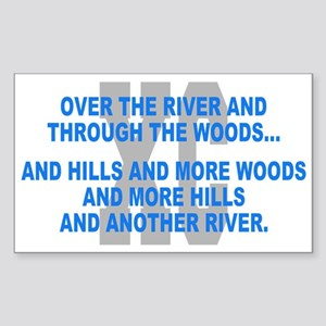 Over the River Cross Country Quote Sticker