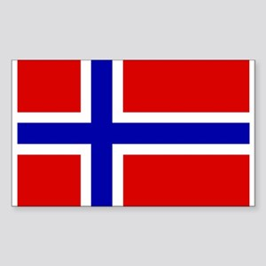 Norwegian Flag Rectangle Sticker