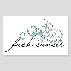 Fuck Cancer Sticker (Rectangle)