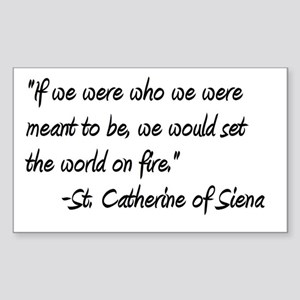 St. Catherine World on Fire Rectangle Sticker
