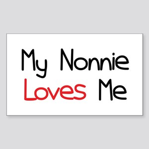 My Nonnie Loves Me Rectangle Sticker