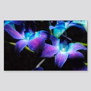 Two Purple Orchids Sticker (Rectangle)